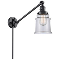 Innovations Lighting 237-BK-G182 Canton 35 inch 60 watt Matte Black Swing Arm Wall Light Franklin Restoration