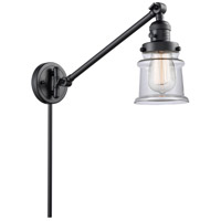 Innovations Lighting 237-BK-G182S Small Canton 35 inch 60 watt Matte Black Swing Arm Wall Light Franklin Restoration