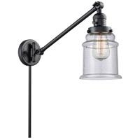 Innovations Lighting 237-BK-G184 Canton 35 inch 60 watt Matte Black Swing Arm Wall Light Franklin Restoration