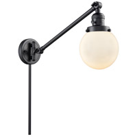 Innovations Lighting 237-BK-G201-6-LED Beacon 21 inch 3.5 watt Matte Black Swing Arm Wall Light Franklin Restoration