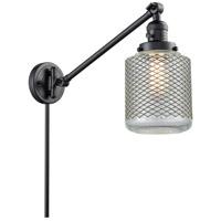 Innovations Lighting 237-BK-G262 Stanton 30 inch 60 watt Matte Black Swing Arm Wall Light Franklin Restoration