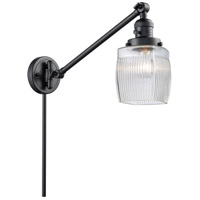 Innovations Lighting 237-BK-G302 Colton 30 inch 60 watt Matte Black Swing Arm Wall Light Franklin Restoration