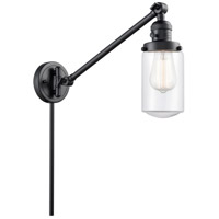 Innovations Lighting 237-BK-G312 Dover 30 inch 60 watt Matte Black Swing Arm Wall Light Franklin Restoration