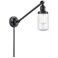 Innovations Lighting 237-BK-G314 Dover 30 inch 60 watt Matte Black Swing Arm Wall Light Franklin Restoration