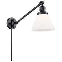 Innovations Lighting 237-BK-G41 Large Cone 30 inch 60 watt Matte Black Swing Arm Wall Light Franklin Restoration