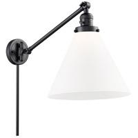 Innovations Lighting 237-BK-G41-L X-Large Cone 16 inch 60 watt Matte Black Swing Arm Wall Light Franklin Restoration