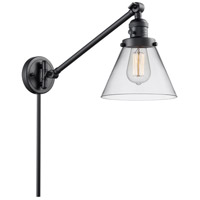Innovations Lighting 237-BK-G42-LED Large Cone 30 inch 3.5 watt Matte Black Swing Arm Wall Light Franklin Restoration