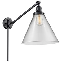Innovations Lighting 237-BK-G42-L X-Large Cone 16 inch 60 watt Matte Black Swing Arm Wall Light Franklin Restoration