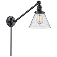 Innovations Lighting 237-BK-G44 Large Cone 30 inch 60 watt Matte Black Swing Arm Wall Light Franklin Restoration