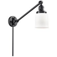 Innovations Lighting 237-BK-G51 Small Bell 21 inch 60 watt Matte Black Swing Arm Wall Light Franklin Restoration