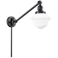 Innovations Lighting 237-BK-G531 Small Oxford 30 inch 60 watt Matte Black Swing Arm Wall Light Franklin Restoration