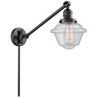 Innovations Lighting 237-BK-G534 Small Oxford 30 inch 60 watt Matte Black Swing Arm Wall Light Franklin Restoration