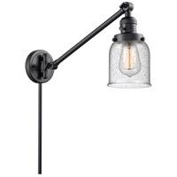 Innovations Lighting 237-BK-G54 Small Bell 21 inch 60 watt Matte Black Swing Arm Wall Light Franklin Restoration