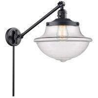 Innovations Lighting 237-BK-G542 Large Oxford 20 inch 60 watt Matte Black Swing Arm Wall Light Franklin Restoration