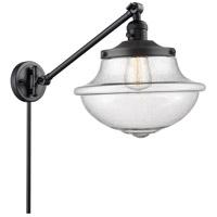 Innovations Lighting 237-BK-G544 Large Oxford 20 inch 60 watt Matte Black Swing Arm Wall Light Franklin Restoration