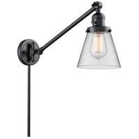 Innovations Lighting 237-BK-G62 Small Cone 21 inch 60 watt Matte Black Swing Arm Wall Light Franklin Restoration