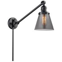 Innovations Lighting 237-BK-G63 Small Cone 21 inch 60 watt Matte Black Swing Arm Wall Light Franklin Restoration