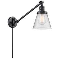 Innovations Lighting 237-BK-G64 Small Cone 21 inch 60 watt Matte Black Swing Arm Wall Light Franklin Restoration