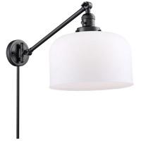 Innovations Lighting 237-BK-G71-L X-Large Bell 12 inch 60 watt Matte Black Swing Arm Wall Light Franklin Restoration