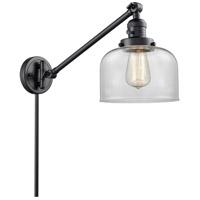 Innovations Lighting 237-BK-G72 Large Bell 21 inch 60 watt Matte Black Swing Arm Wall Light Franklin Restoration