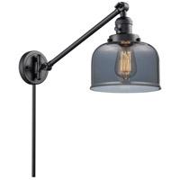 Innovations Lighting 237-BK-G73 Large Bell 21 inch 60 watt Matte Black Swing Arm Wall Light Franklin Restoration