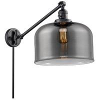 Innovations Lighting 237-BK-G73-L X-Large Bell 12 inch 60 watt Matte Black Swing Arm Wall Light Franklin Restoration