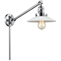 Innovations Lighting 237-PC-G1 Halophane 21 inch 60 watt Polished Chrome Swing Arm Wall Light Franklin Restoration