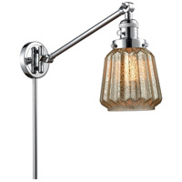 Innovations Lighting 237-PC-G146-LED Chatham 35 inch 3.5 watt Polished Chrome Swing Arm Wall Light Franklin Restoration