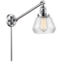 Innovations Lighting 237-PC-G172 Fulton 35 inch 60.00 watt Polished Chrome Swing Arm Wall Light Franklin Restoration