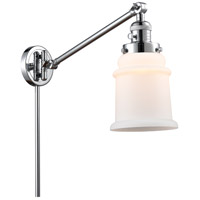 Innovations Lighting 237-PC-G181 Canton 18 inch 60.00 watt Polished Chrome Swing Arm Wall Light, Franklin Restoration
