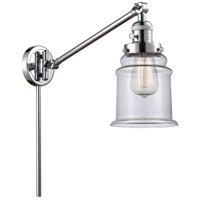 Innovations Lighting 237-PC-G182 Canton 35 inch 60.00 watt Polished Chrome Swing Arm Wall Light, Franklin Restoration