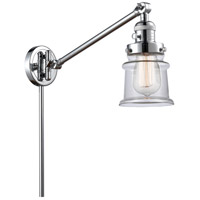 Innovations Lighting 237-PC-G182S Small Canton 35 inch 60 watt Polished Chrome Swing Arm Wall Light Franklin Restoration