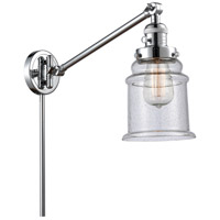 Innovations Lighting 237-PC-G184 Canton 35 inch 60.00 watt Polished Chrome Swing Arm Wall Light, Franklin Restoration