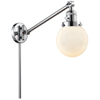Innovations Lighting 237-PC-G201-6 Beacon 21 inch 60.00 watt Polished Chrome Swing Arm Wall Light, Franklin Restoration