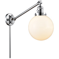 Innovations Lighting 237-PC-G201-8 Large Beacon 21 inch 60.00 watt Polished Chrome Swing Arm Wall Light, Franklin Restoration photo thumbnail