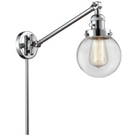 Innovations Lighting 237-PC-G202-6 Beacon 21 inch 60.00 watt Polished Chrome Swing Arm Wall Light, Franklin Restoration