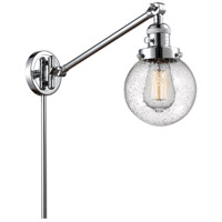 Innovations Lighting 237-PC-G204-6 Beacon 21 inch 60.00 watt Polished Chrome Swing Arm Wall Light, Franklin Restoration