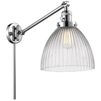 Innovations Lighting 237-PC-G222 Seneca Falls 18 inch 60 watt Polished Chrome Swing Arm Wall Light Franklin Restoration