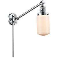Innovations Lighting 237-PC-G311 Dover 30 inch 60 watt Polished Chrome Swing Arm Wall Light Franklin Restoration