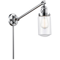 Innovations Lighting 237-PC-G312 Dover 30 inch 60 watt Polished Chrome Swing Arm Wall Light Franklin Restoration