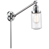 Innovations Lighting 237-PC-G314 Dover 30 inch 60.00 watt Polished Chrome Swing Arm Wall Light Franklin Restoration
