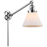 Innovations Lighting 237-PC-G41 Large Cone 30 inch 60 watt Polished Chrome Swing Arm Wall Light Franklin Restoration