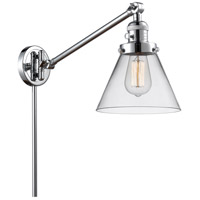 Innovations Lighting 237-PC-G42 Large Cone 30 inch 60 watt Polished Chrome Swing Arm Wall Light Franklin Restoration