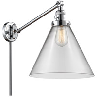 Innovations Lighting 237-PC-G42-L X-Large Cone 16 inch 60 watt Polished Chrome Swing Arm Wall Light Franklin Restoration