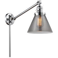 Innovations Lighting 237-PC-G43 Large Cone 30 inch 60.00 watt Polished Chrome Swing Arm Wall Light Franklin Restoration