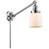 Innovations Lighting 237-PC-G51 Small Bell 21 inch 60 watt Polished Chrome Swing Arm Wall Light, Franklin Restoration photo thumbnail