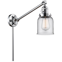 Innovations Lighting 237-PC-G52 Small Bell 21 inch 60.00 watt Polished Chrome Swing Arm Wall Light Franklin Restoration