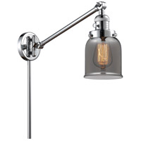 Innovations Lighting 237-PC-G53 Small Bell 21 inch 60 watt Polished Chrome Swing Arm Wall Light Franklin Restoration