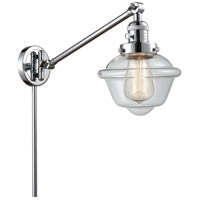 Innovations Lighting 237-PC-G532 Small Oxford 30 inch 60.00 watt Polished Chrome Swing Arm Wall Light Franklin Restoration