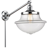 Innovations Lighting 237-PC-G542 Large Oxford 20 inch 60 watt Polished Chrome Swing Arm Wall Light Franklin Restoration